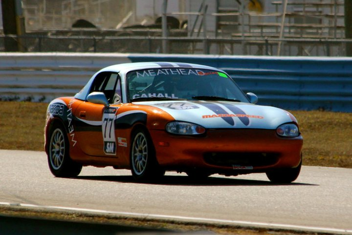 Ted Cahall Spec Miata new paint
